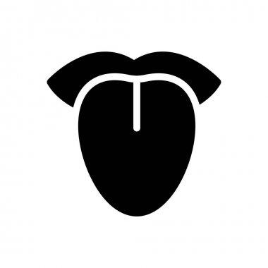 Tongue icon for website design and desktop envelopment, development. Premium pack. icon