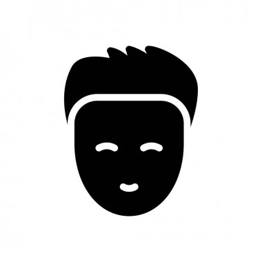 Boy face icon for website design and desktop envelopment, development. Premium pack. icon