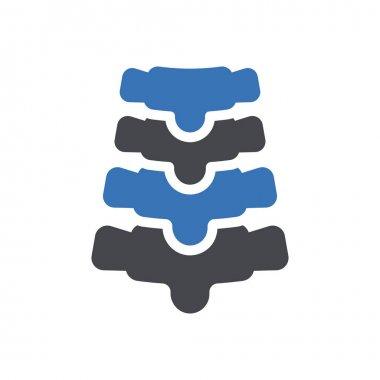 Spine icon for website design and desktop envelopment, development. Premium pack. icon