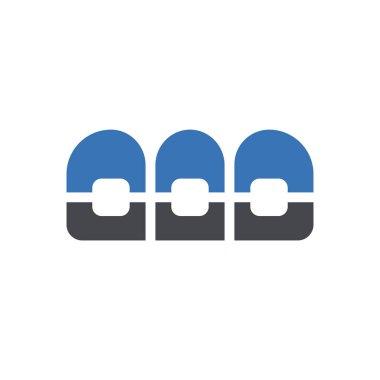 Braces icon for website design and desktop envelopment, development. Premium pack. icon