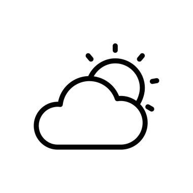 Cloud sun icon for website design and desktop envelopment, development. Premium pack. icon