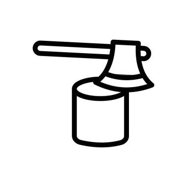 Axe wood  icon for website design and desktop envelopment, development. Premium pack. icon