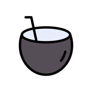 Coconut drink icon for website design and desktop envelopment, development. Premium pack. icon