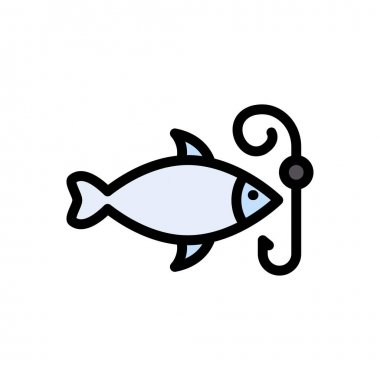 Fish hook icon for website design and desktop envelopment, development. Premium pack. icon