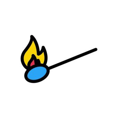Fire matchstick icon for website design and desktop envelopment, development. Premium pack. icon