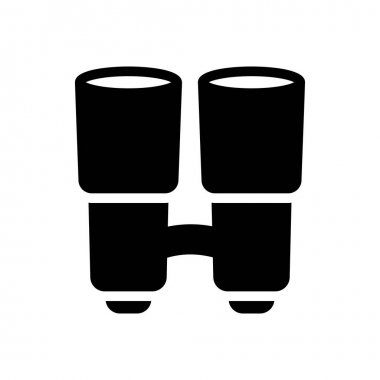 Binocular icon for website design and desktop envelopment, development. Premium pack. icon