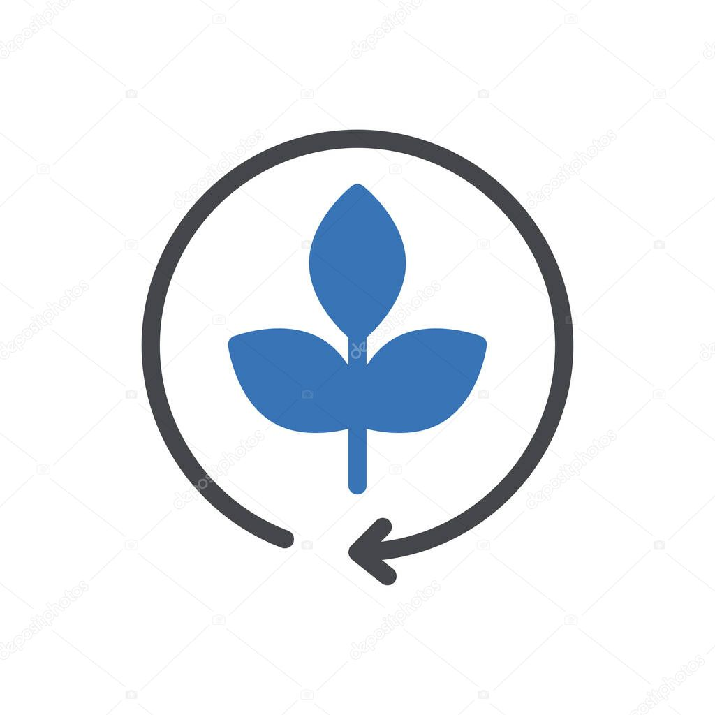 Eco recycle icon for website and Apps design and desktop envelopment  development and Printing icon
