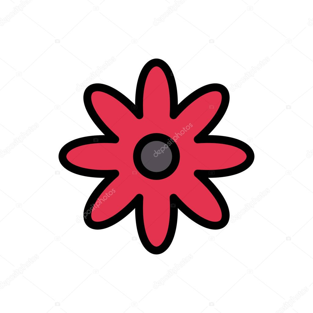 Flower icon for website and Apps design and desktop envelopment  development and Printing icon
