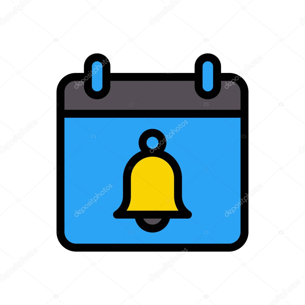 Calendar bell icon for website and Apps design and desktop envelopment  development and Printing icon