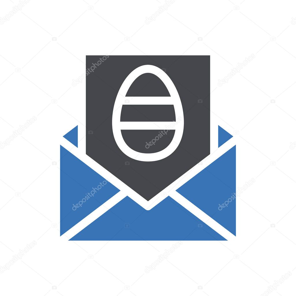 Easter invitation icon for website and Apps design and desktop envelopment  development and Printing icon
