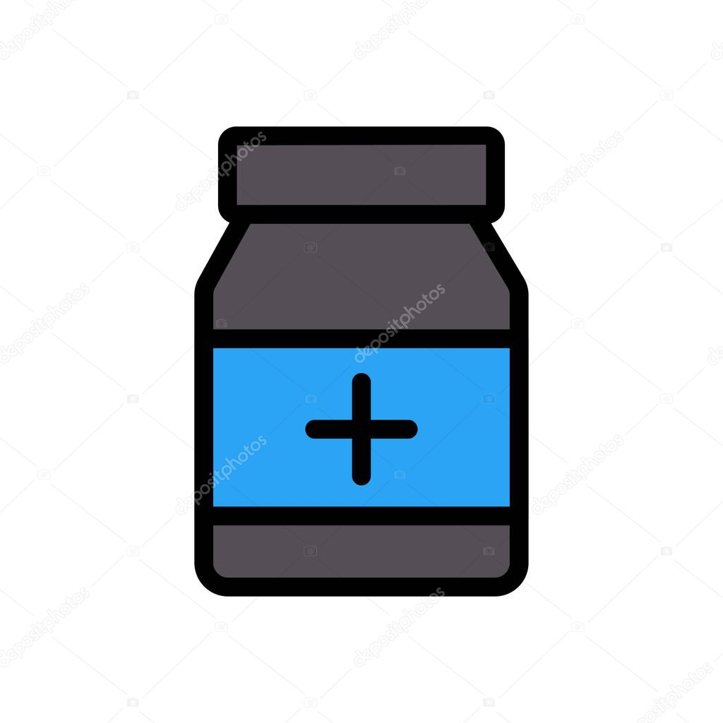Medicine jar icon for website and Apps design and desktop envelopment  development and Printing icon