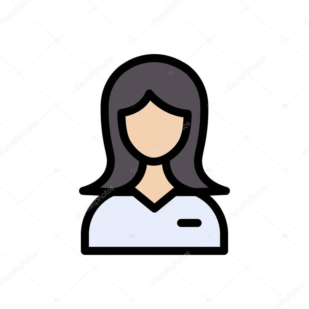 Girl icon for website and Apps design and desktop envelopment  development and Printing icon