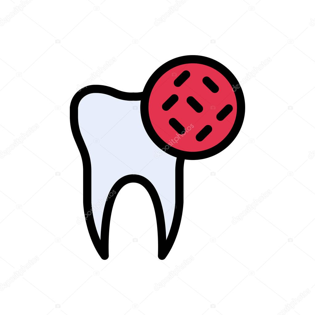 Teeth germs icon for website and Apps design and desktop envelopment  development and Printing icon