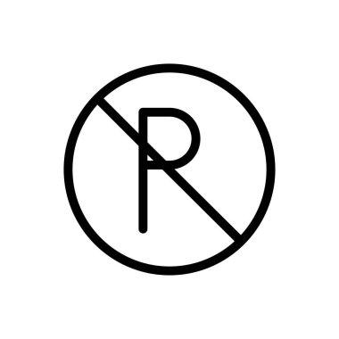 Parking icon for website design and desktop envelopment, development. Premium pack. icon