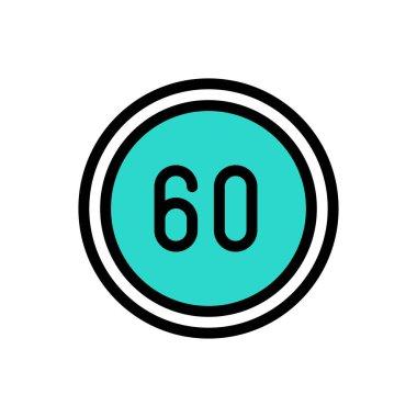 60 speed  icon for website design and desktop envelopment, development. Premium pack. icon