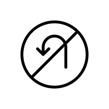 U turn icon for website design and desktop envelopment, development. Premium pack. icon
