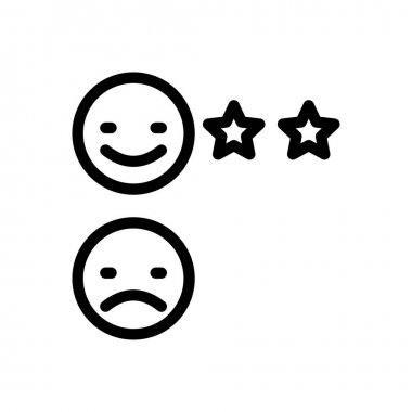 Rating icon for website design and desktop envelopment, development. Premium pack. icon