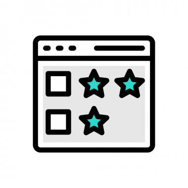 Rating icon for website design and desktop envelopment, development. Premium pack. icon