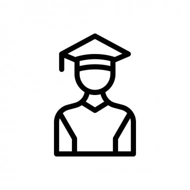Graduation icon for website design and desktop envelopment, development. Premium pack. icon