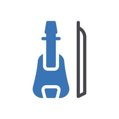 Guitar icon for website design and desktop envelopment, development. Premium pack. icon