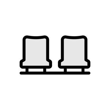 Stadium seat  icon for website design and desktop envelopment, development. Premium pack. icon
