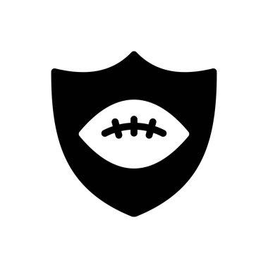 Rugby shield icon for website design and desktop envelopment, development. Premium pack. icon