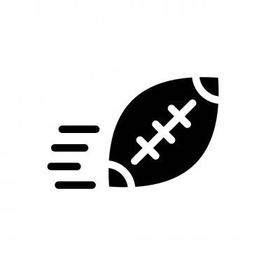 Rugby throw icon for website design and desktop envelopment, development. Premium pack. icon