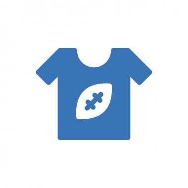 Shirt rugby icon for website design and desktop envelopment, development. Premium pack. icon