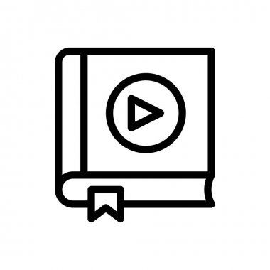 Video book icon for website design and desktop envelopment, development. Premium pack. icon