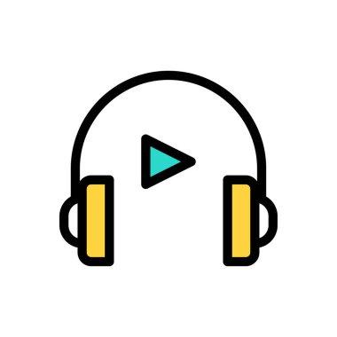 Headphone icon for website design and desktop envelopment, development. Premium pack. icon