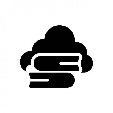 Cloud book icon for website design and desktop envelopment, development. Premium pack. icon