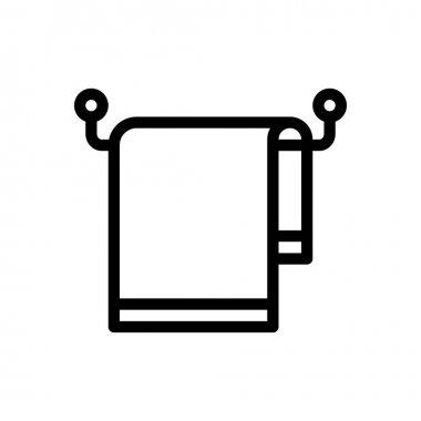 Towel hanging icon for website design and desktop envelopment, development. Premium pack. icon
