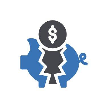 Piggy coin icon for website design and desktop envelopment, development. Premium pack. icon