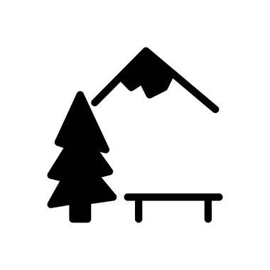 Mountain icon for website design and desktop envelopment, development. Premium pack. icon