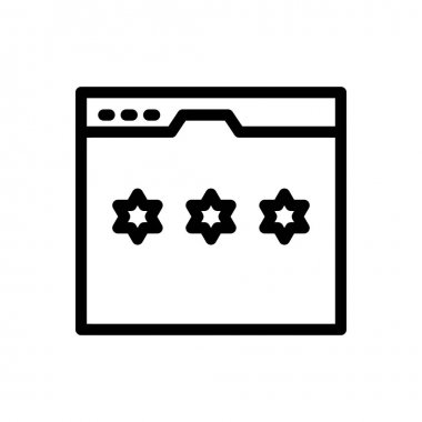 Rating Icon for website design and desktop envelopment, development. premium pack icon