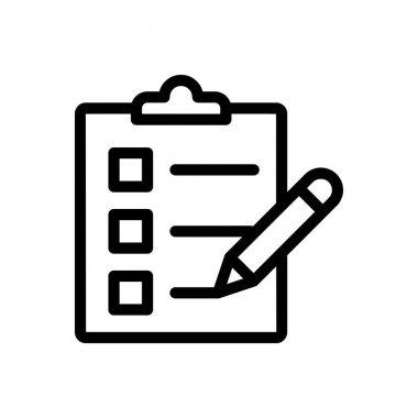 Checklist  Icon for website design and desktop envelopment, development. premium pack icon