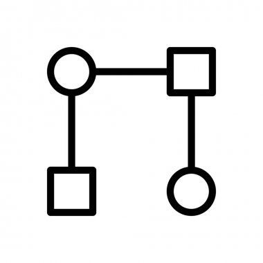 Flowchart  Icon for website design and desktop envelopment, development. premium pack icon