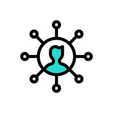 Connection  Icon for website design and desktop envelopment, development. premium pack icon