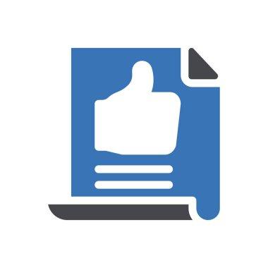 Review Icon for website design and desktop envelopment, development. premium pack icon