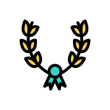 Wreath Icon for website design and desktop envelopment, development. premium pack icon