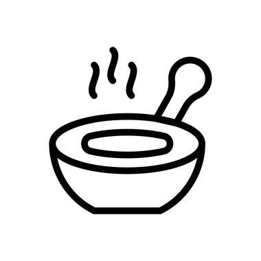 Soup bowl Icon for website design and desktop envelopment, development. premium pack. icon