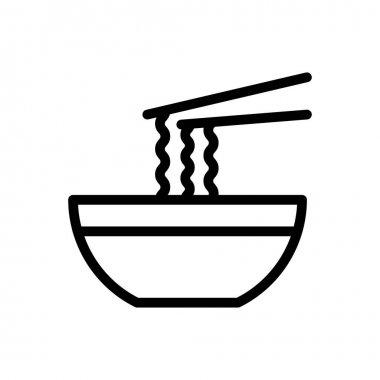 Noodles bowl Icon for website design and desktop envelopment, development. premium pack. icon