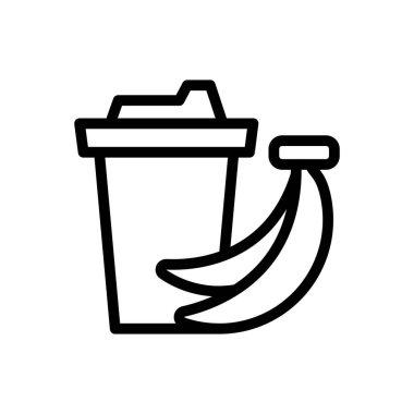 Banana shake Icon for website design and desktop envelopment, development. premium pack. icon