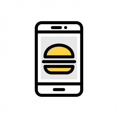 Online burger Icon for website design and desktop envelopment, development. premium pack. icon