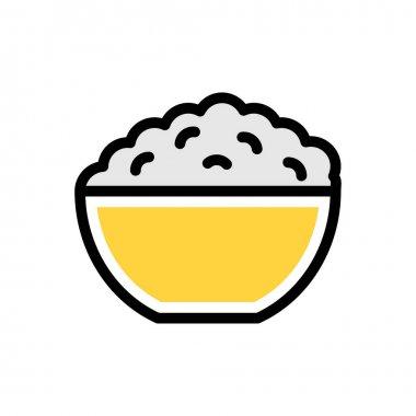 Rice bowl Icon for website design and desktop envelopment, development. premium pack. icon