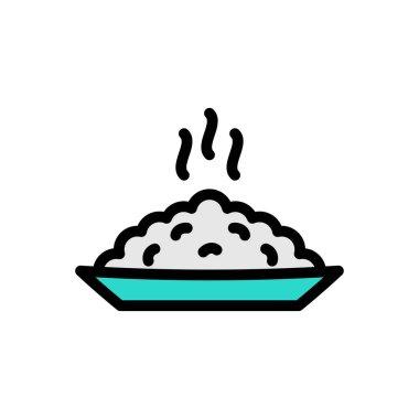 Rice hot plate Icon for website design and desktop envelopment, development. premium pack. icon