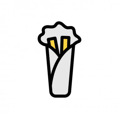 Shawarma Icon for website design and desktop envelopment, development. premium pack. icon