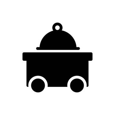 Food trolley Icon for website design and desktop envelopment, development. premium pack. icon