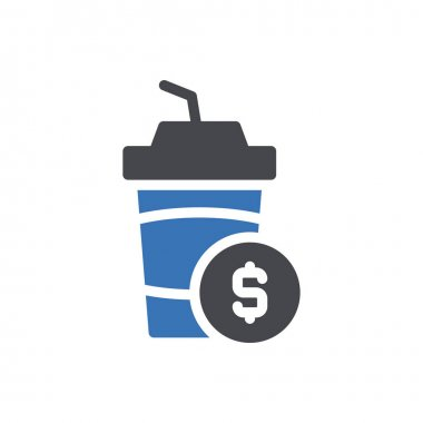 Juice dollar pay Icon for website design and desktop envelopment, development. premium pack. icon