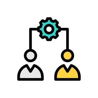 Team Icon for website design and desktop envelopment, development. premium pack. icon